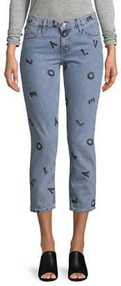 Current/Elliott CURRENT ELLIOTT Crop Straight Love Letter Jeans