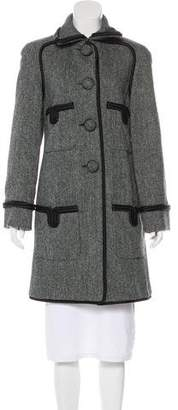 Chanel Wool Herringbone Coat
