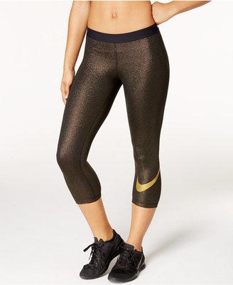 Nike Pro Cool Gold Capri Leggings $50 thestylecure.com