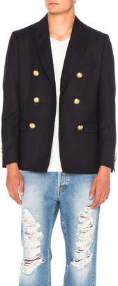 Palm Angels Leaves Double Breasted Blazer $1,278 thestylecure.com