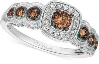 LeVian Le Vian Chocolatier® Diamond Halo Ring (5/8 ct. t.w.) in 14k White Gold