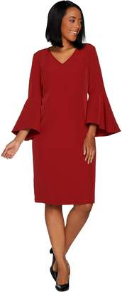 Belle By Kim Gravel Belle by Kim Gravel V-Neck Dress with Bell Sleeves