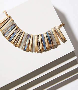 LOFT Crystal Stone Bar Necklace