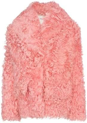 Miu Miu long sleeve shearling coat