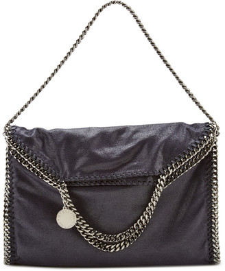 Stella McCartney Falabella Metallic Shaggy Deer Fold-Over Tote