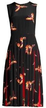 Diane von Furstenberg Talita Silk Pleat Dress