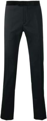 Les Hommes contrast waistband classic trousers