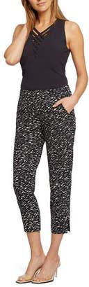 Nic+Zoe Scribble Pull-On Capri Pants