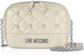 4965c8923e8 Love Moschino Quilted Eco-leather Crossbody Bag W/ Studs