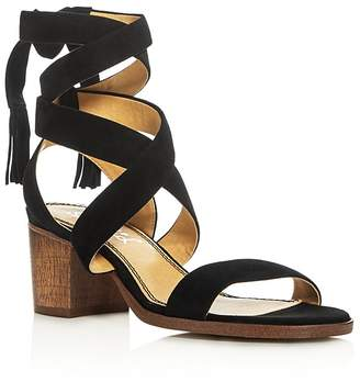 Splendid Janet Crisscross Ankle Strap Block Heel Sandals $128 thestylecure.com