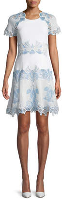 Jonathan Simkhai Eyelet Applique Tee Dress