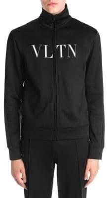 Valentino Logo Zip-Front Track Jacket