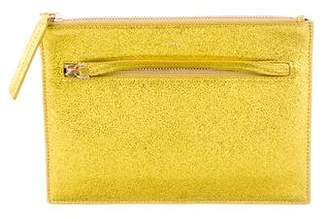 A.L.C. Metallic Leather Zip Pouch