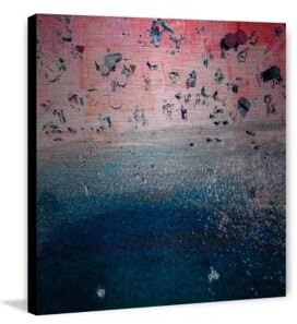 Parvez Taj Pink Sandy Beach Brushed Aluminum Print