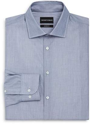 Emporio Armani Micro Print Regular Fit Button-Down Shirt