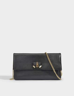 7ff09dc836a36 MICHAEL Michael Kors Everly Medium Fold Over Clutch in Black Pebble Leather
