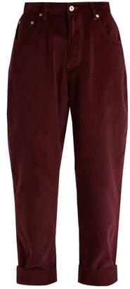 Miu Miu Mid-rise cotton-corduroy boyfriend trousers