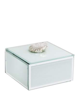 Jay Import White Agate Trinket Box