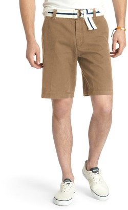 Izod Men's Saltwater Classic-Fit Solid Flat-Front Shorts