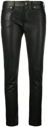 Laneus faux leather skinny trousers