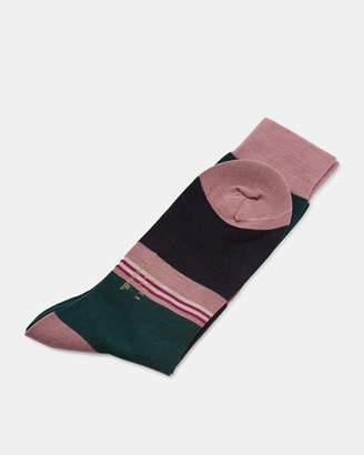 Ted Baker RAINHAM Stripe plaited wool socks