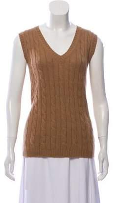 Max Mara Wool & Angora Cable Knit Top