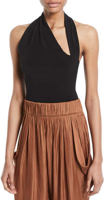 Halston Iconic Halter-Neck Sleeveless Bodysuit