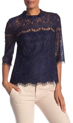 Laundry by Shelli Segal Lace Elbow Sleeve Top