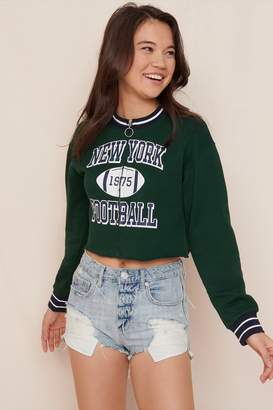 Garage Cropped Crew Neck Zippie