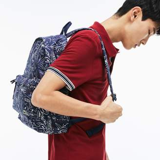 Lacoste Men's Neocroc Egyptian Graphic Print Canvas Backpack