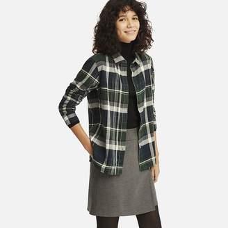 Uniqlo WOMEN Flannel Check Long Sleeve Shirt