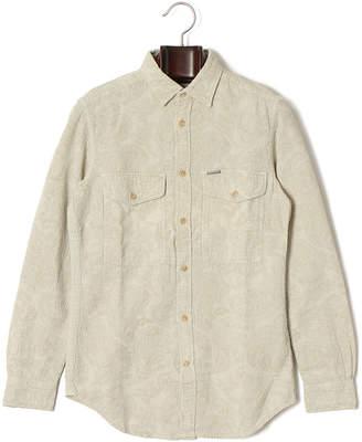 Diesel (ディーゼル) - DIESEL ペイズリー柄 ダブルポケット 長袖シャツ キナリ xs