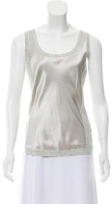 Magaschoni Sleeveless Silk-Accented Top