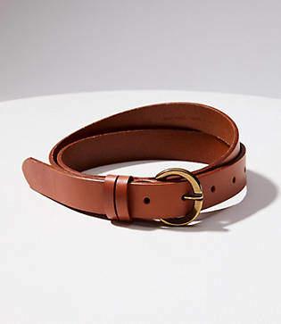 LOFT Double Loop Leather Belt