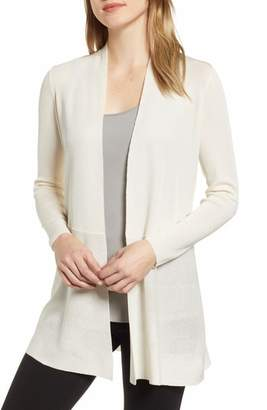 Anne Klein Peplum Long Cardigan