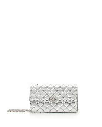 Valentino Rockstud Spike Small Flap Shoulder Bag - Silvertone Hardware