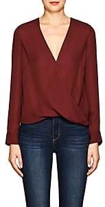 L'Agence Women's Kyla Silk Draped Blouse - Red