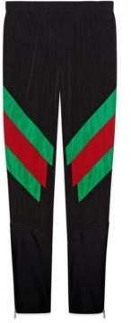 Gucci Nylon legging with Web intarsia