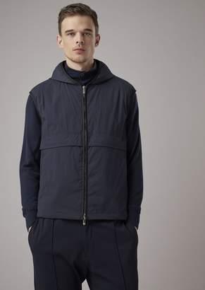 Giorgio Armani Light Tech Crepe Vest With Giorgio Lettering On The Back