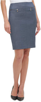 Tommy Hilfiger Chambray Pencil Skirt