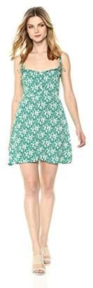 For Love & Lemons Women's Zamira Button Front Tank Dress