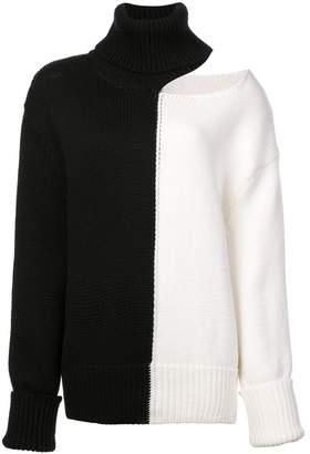 Monse bicolour cold shoulder jumper