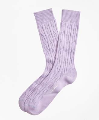 Brooks Brothers Cable Crew Socks