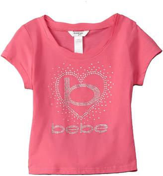 Bebe Girls' Tie-Back Logo Top