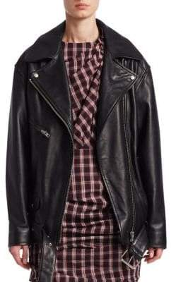 Etoile Isabel Marant Abely Oversized Leather Jacket