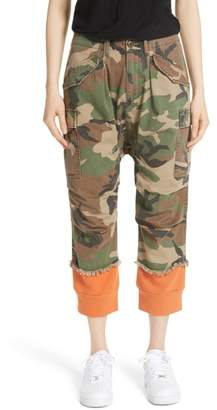 R 13 Camo Harem Pants with Sweat Cuffs