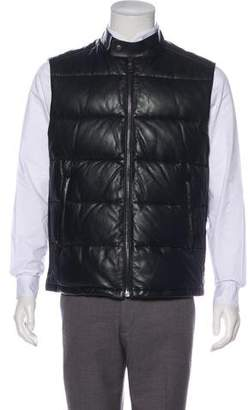 Prada Leather Down Vest