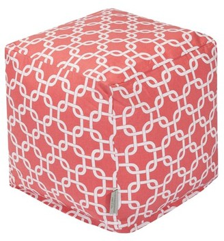 Majestic Home Goods Links Indoor Ottoman Pouf Cube
