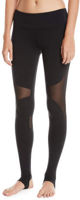 Alo Yoga Coast Mesh-Panel Sport Leggings