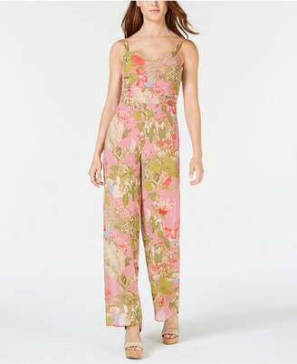 GUESS Pierre Adjustable Printed Jumpsuit
